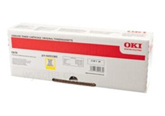 OKI Toner 44315305, yellow, zu OKI C610 Serie, 6'000 Seiten, ISO/IEC 19798