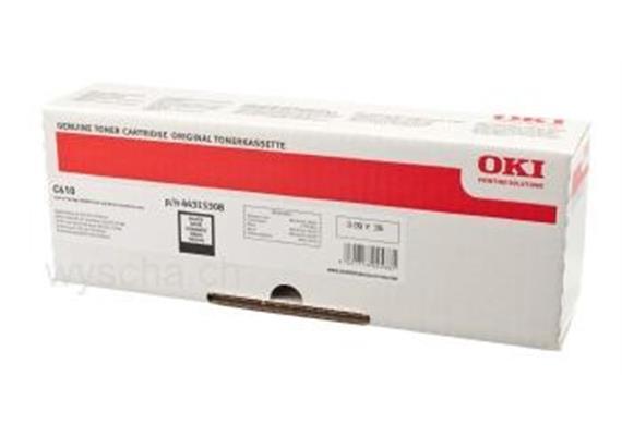 OKI Toner 44315308, black, zu OKI C610 Serie, 6'000 Seiten, ISO/IEC 19798