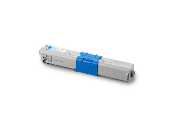 OKI Toner 44469724 cyan, zu OKI C510/530 Serie, ca. 5'000 Seiten, LED, blau