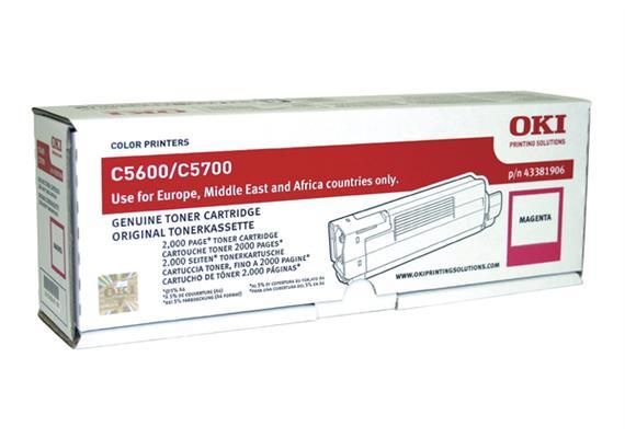 OKI Toner magenta 43381906 C5600/5700 2000 Seiten