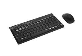 Rapoo Tastatur-Maus-Set 8000M Schwarz/Grau