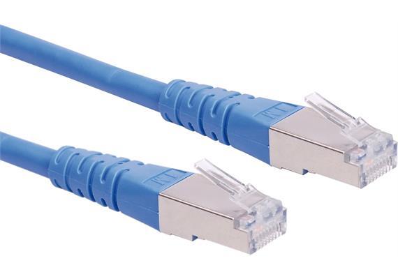 ROLINE Patchkabel Kat.6, S/FTP (PiMF) blau, 1,0m