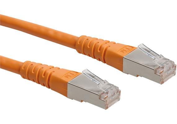 ROLINE Patchkabel Kat.6, S/FTP (PiMF) orange, 1,0m