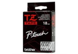 Schriftband Brother P-Touch TZ-141, schwarz/trans. 18mm, zu 220 / 550 / 1250 / 1800E / 920