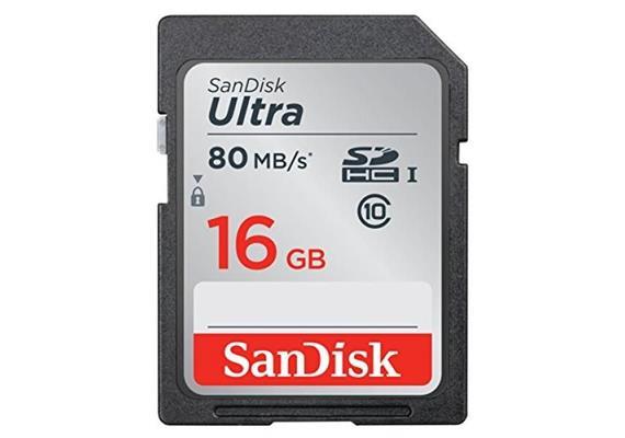 SDHC Card 16GB SanDisk Ultra UHS-I U1, Lesen 80MB/s