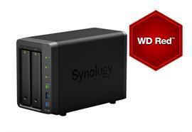 Synology NAS DS718+ 2-bay WD Red 8 TB, Anzahl Laufwerkschächte: 2