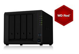 Synology NAS DS918+ 4-bay WD Red 16 TB, Anzahl Laufwerkschächte: 4