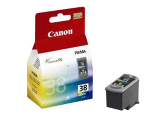 Tinte Canon CL-38 farbig, 3x3ml 205 Seiten @5% Deckung, zu Canon Pixma IP 1800
