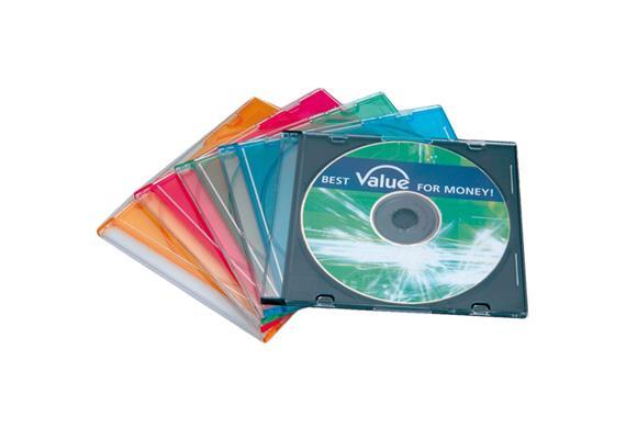 VALUE CD Hüllen slim, mehrfarbig, 5.2mm, 5er Pack