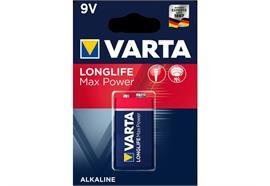 Varta Batterie Longlife Max Power 9V 1 Stück,