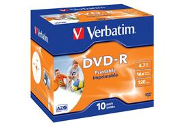 Verbatim DVD-R Medien 4.7 GB 10er Jewelcase