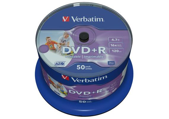 Verbatim DVD+R Medien 4.7 GB 50er Spindel
