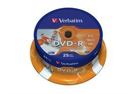 Verbatim DVD-R Medien 4.7GB, 16x Brenngeschwindigkeit, 25er Spindel
