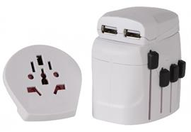 World Travel Adapter Pro & USB 2- and 3-pole, two USB Dicota